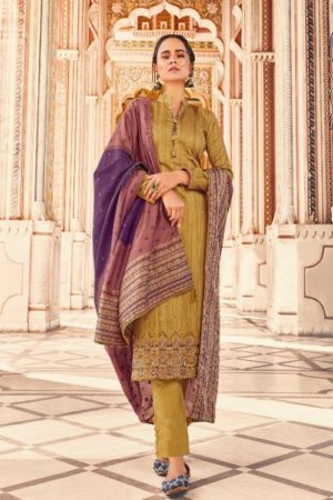 Deepsy Suits Presents Abstract Pure Jam Cotton printed with Self Embroidery Salwar Suit 65004