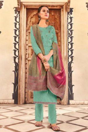 Deepsy Suits Presents Abstract Pure Jam Cotton printed with Self Embroidery Salwar Suit 65005
