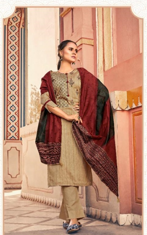 Deepsy Suits Presents Abstract Pure Jam Cotton printed with Self Embroidery Salwar Suits 65006