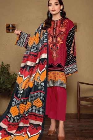Gulahmed Presents Alakram 1 Pure Lawn Pakistani Replica Suit 07