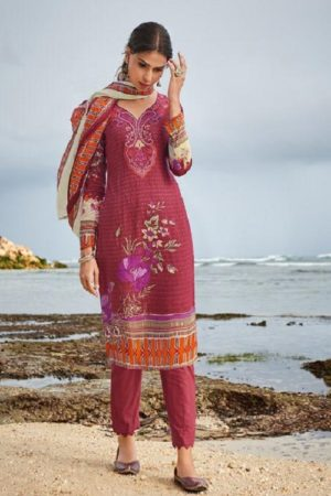Ishaal Prints Presents Gulmohar 14 Pure Lawn Unstitched Ladies Salwar Suit 1401