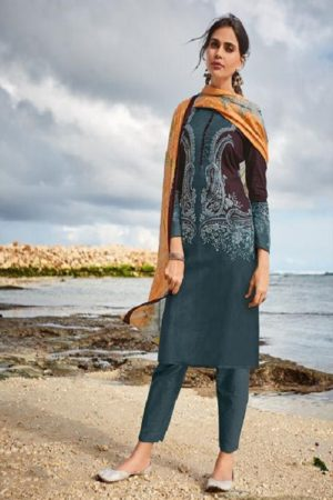 Ishaal Prints Presents Gulmohar 14 Pure Lawn Unstitched Ladies Salwar Suit 1403