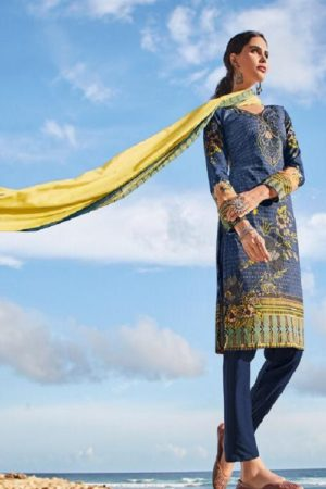 Ishaal Prints Presents Gulmohar 14 Pure Lawn Unstitched Ladies Salwar Suit 1405