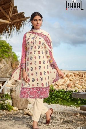 Ishaal Prints Presents Gulmohar 14 Pure Lawn Unstitched Ladies Salwar Suit 1408