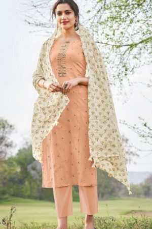 JayVijay Presents Hiraya Pure Cotton Lining Embroidery With Work Salwar Suit 5268