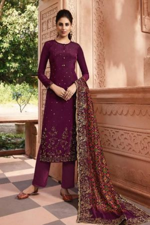 Lt Fabrics Nitya Vol 146 Natural Crepe With Siroski Salwar Suit 4602