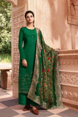 Lt Fabrics Nitya Vol 146 Natural Crepe With Siroski Salwar Suit 4606