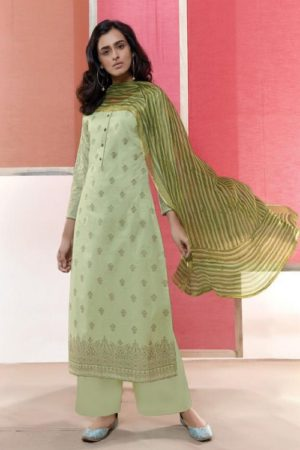 Omtex Coco Heavy Lawn Cotton Foil Print With Work Salwar Suit 1031