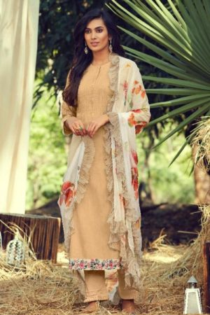 Sahiba Itrana Presents Mystical Garden Pure Cotton Slub Embroidered Designer Suit 118