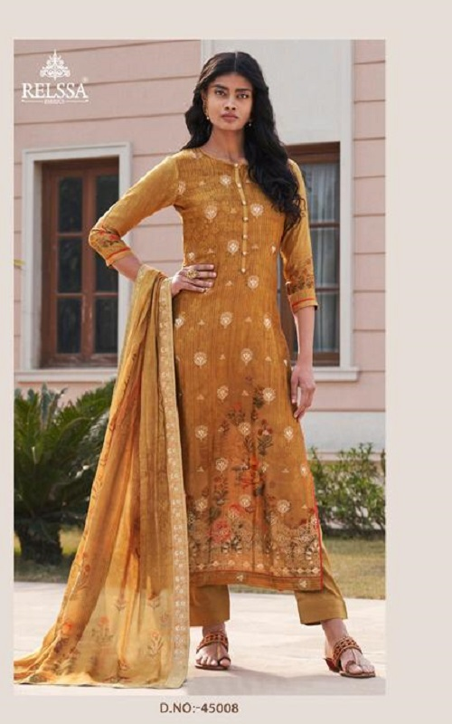 Sajjan Relssa Tansui 3 Designer Ladies Tansui Silk Salwar Suit Collection 45008