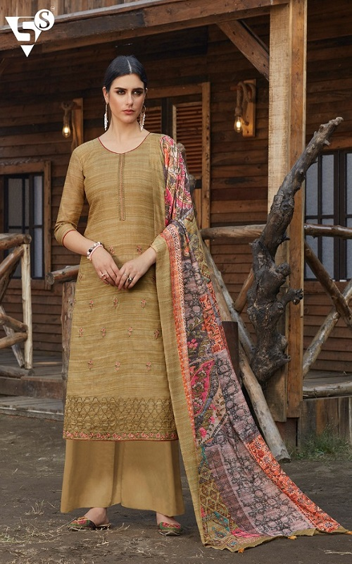 Siddhi Sagar Presents Eashta Pure Handwoven Khadi Cotton With Exclusive Embroidery work Suit 2221