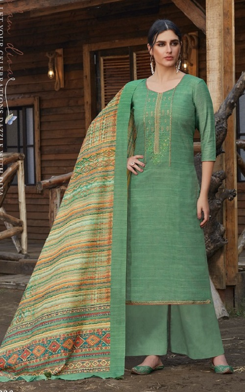 Siddhi Sagar Presents Eashta Pure Handwoven Khadi Cotton With Exclusive Embroidery work Suit 2223