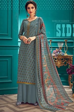 Sunrise Creation Presents Sonika 33 Slub Cotton With Embroidery Work Salwar Kameez 33002