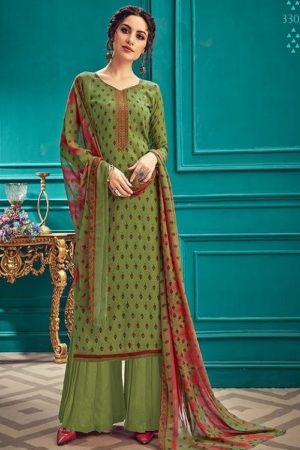Sunrise Creation Presents Sonika 33 Slub Cotton With Embroidery Work Salwar Kameez 33005