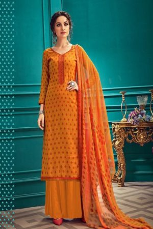 Sunrise Creation Presents Sonika 33 Slub Cotton With Embroidery Work Salwar Kameez 33006