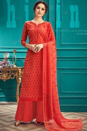 Sunrise Creation Presents Sonika 33 Slub Cotton With Embroidery Work Salwar Kameez 33008
