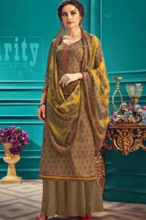 Sunrise Creation Presents Sonika 33 Slub Cotton With Embroidery Work Salwar Kameez 33009