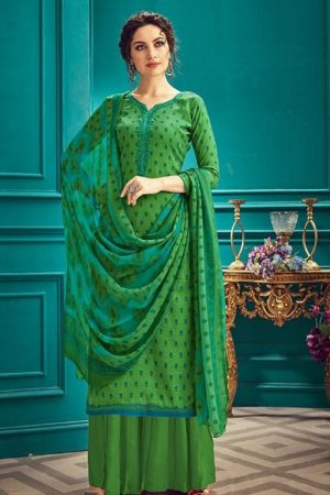 Sunrise Creation Presents Sonika 33 Slub Cotton With Embroidery Work Salwar Kameez 33011