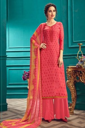 Sunrise Creation Presents Sonika 33 Slub Cotton With Embroidery Work Salwar Kameez 33012