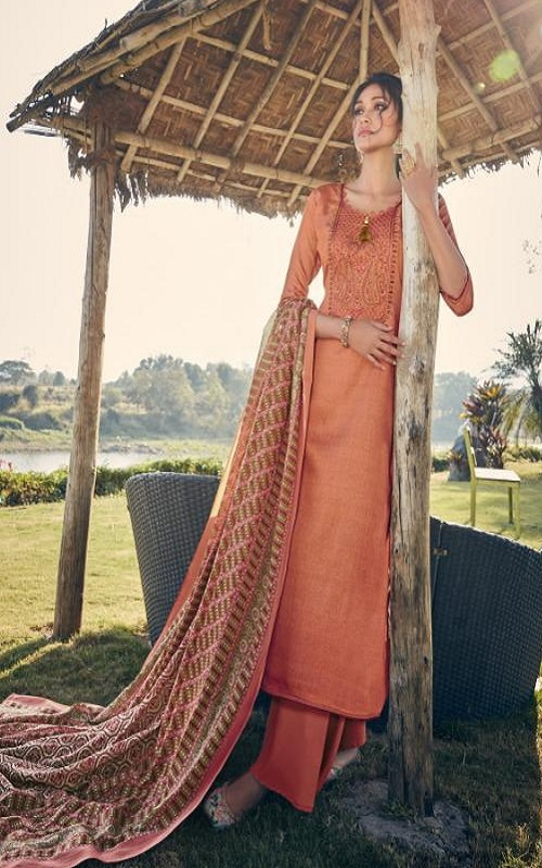 Tanishk Fashion Persents Alifa Pure Jam Heavy Weight with Kashmiri embroidery Salwar Suit 13904