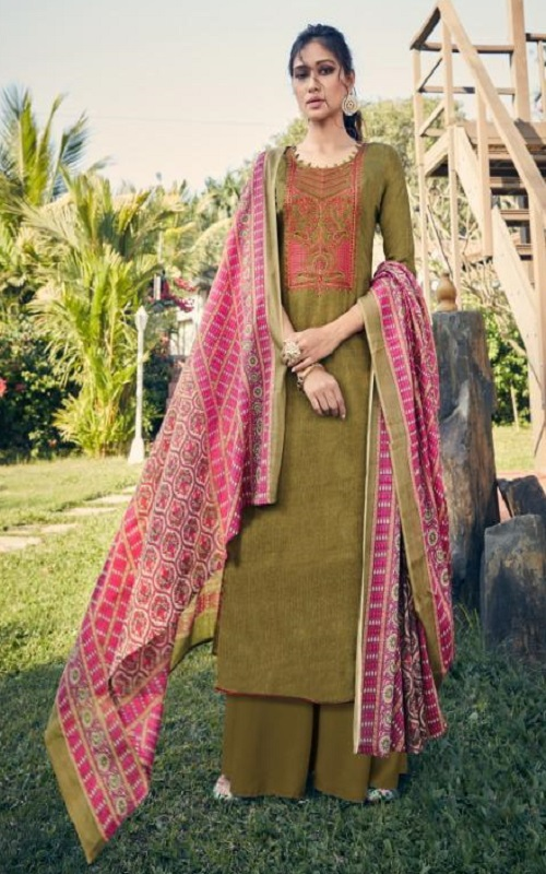 Tanishk Fashion Persents Alifa Pure Jam Heavy Weight with Kashmiri embroidery Salwar Suit 13907