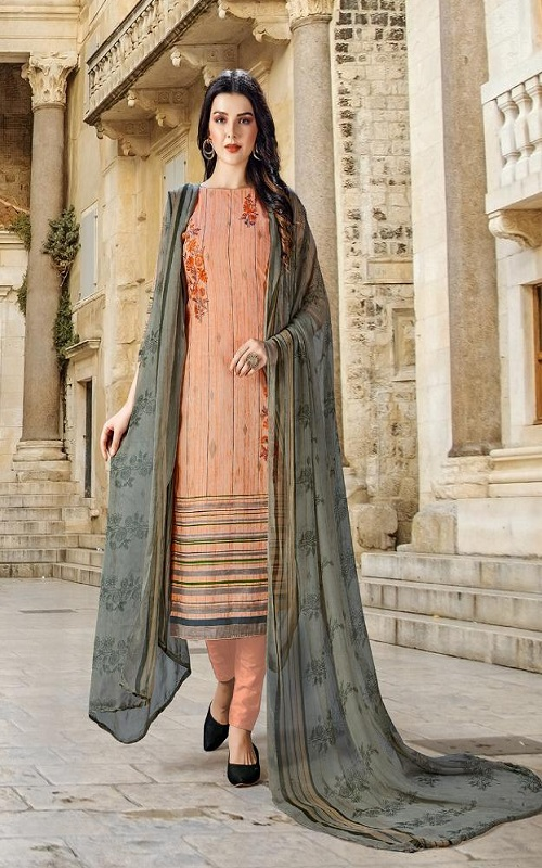 Adinath Prints Simran Pure Cambric Cotton Digital Style Prints with Embroidery Work Suit 48001