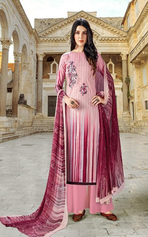 Adinath Prints Simran Pure Cambric Cotton Digital Style Prints with Embroidery Work Suit 48002