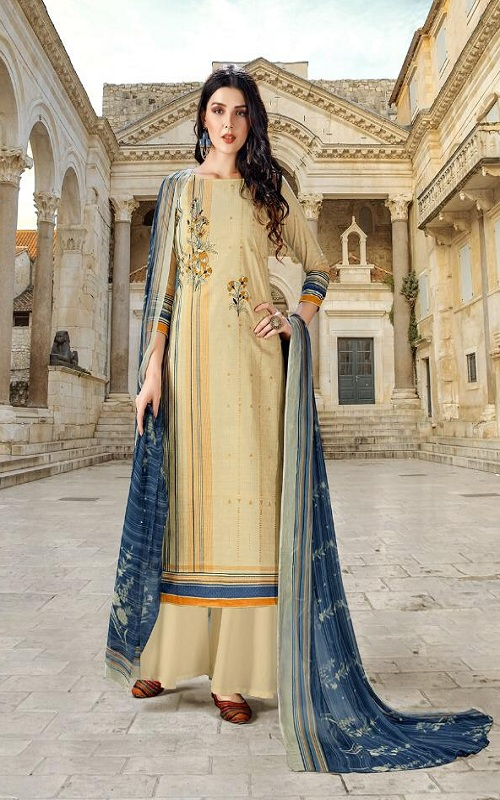 Adinath Prints Simran Pure Cambric Cotton Digital Style Prints with Embroidery Work Suit 48005