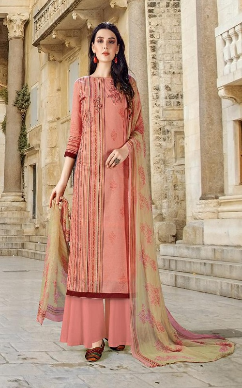 Adinath Prints Simran Pure Cambric Cotton Digital Style Prints with Embroidery Work Suit 48006