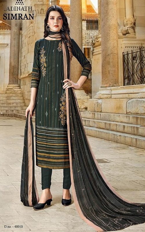 Adinath Prints Simran Pure Cambric Cotton Digital Style Prints with Embroidery Work Suit 48010