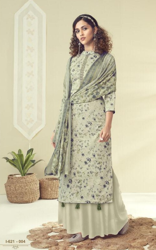 Alok Suits Presents Kangan Pure Jam Cotton Fancy Print With Thread Embroidery Salwar Suit 1-161-004