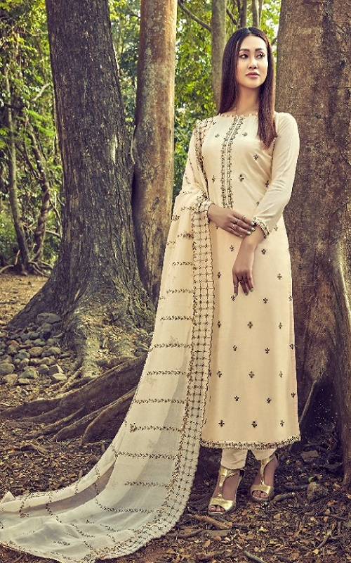Bela Fashion Presents Firaaq Cotton Silk Ladies Salwar Suit 1180