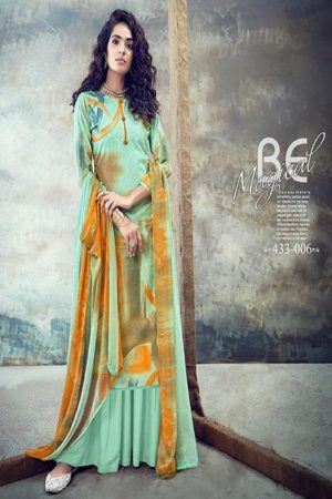 Belliza Designer Studio Presents Florals 2 Pure Cotton Summer Ladies Suit Collection 433-006