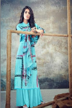 Belliza Designer Studio Presents Florals 2 Pure Cotton Summer Ladies Suit Collection 433-008