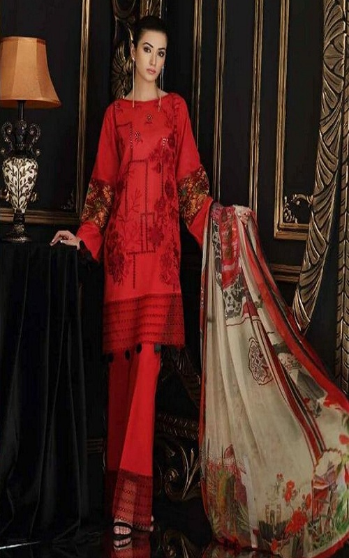 Kaara Presents Charizma Swissmiss 3 Pure Cotton Shiffly and Embroidery work Suit 7005