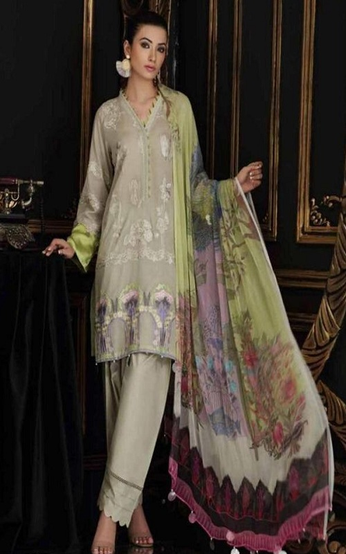Kaara Presents Charizma Swissmiss 3 Pure Cotton Shiffly and Embroidery work Suit 7006