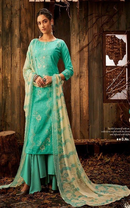 Nakoda Designer Presents Firoza Pure Cambric Cotton Print Summer Collection Suit 18003