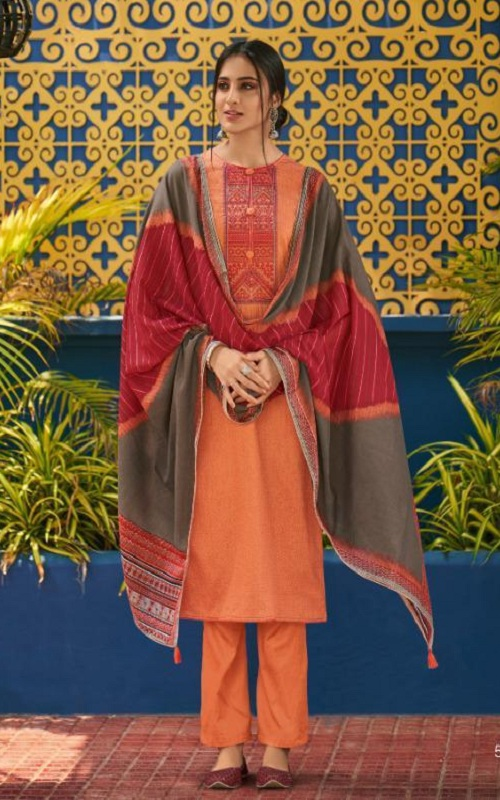 Shahnaz Arts Presents Panihari Vol 5 Jam Cotton Printed With Exclusive Embroidery Suit 5155