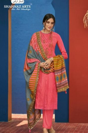 Shahnaz Arts Presents Panihari Vol 5 Jam Cotton Printed With Exclusive Embroidery Suits 5153