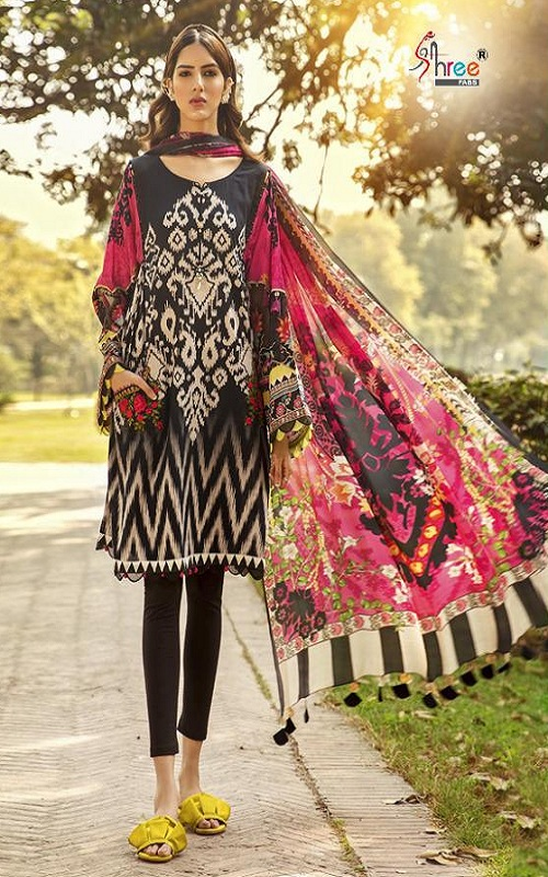 Shree Fabs Presents Mariya B M Print Vol 5 Cotton Pakistani Replica Suit 1247