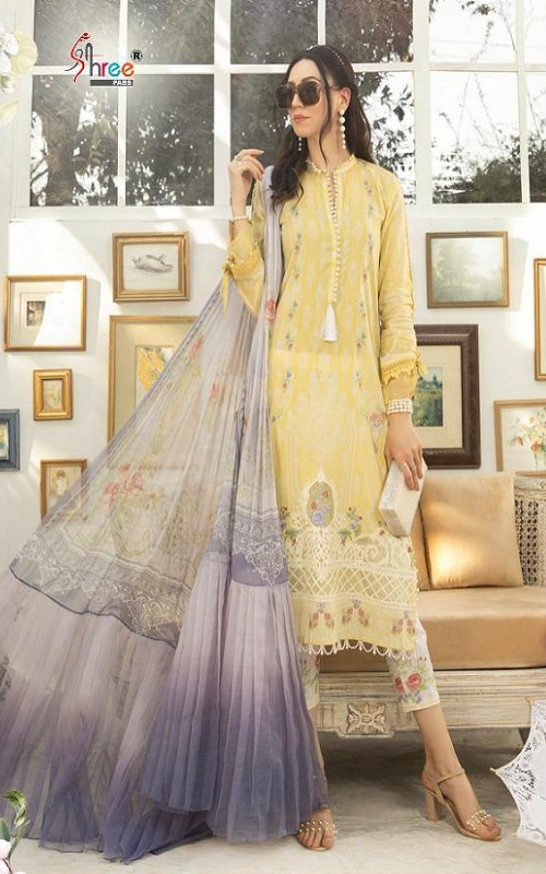 Shree Fabs Presents Mariya B M Print Vol 5 Cotton Pakistani Replica Suit 1252