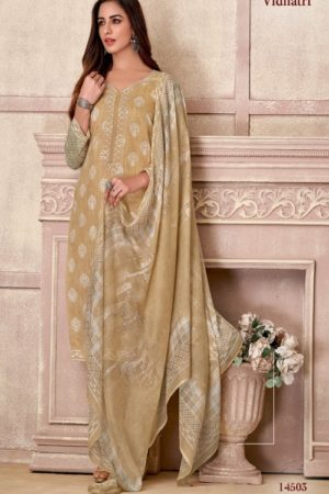 Vidhatri Presents Rivas Lawn Cotton Printed With Embroidery Summer Collection Suit 14503