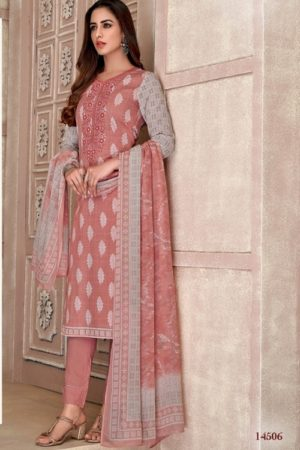 Vidhatri Presents Rivas Lawn Cotton Printed With Embroidery Summer Collection Suit 14506