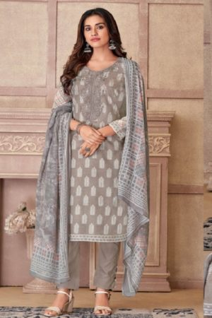 Vidhatri Presents Rivas Lawn Cotton Printed With Embroidery Summer Collection Suit 14508