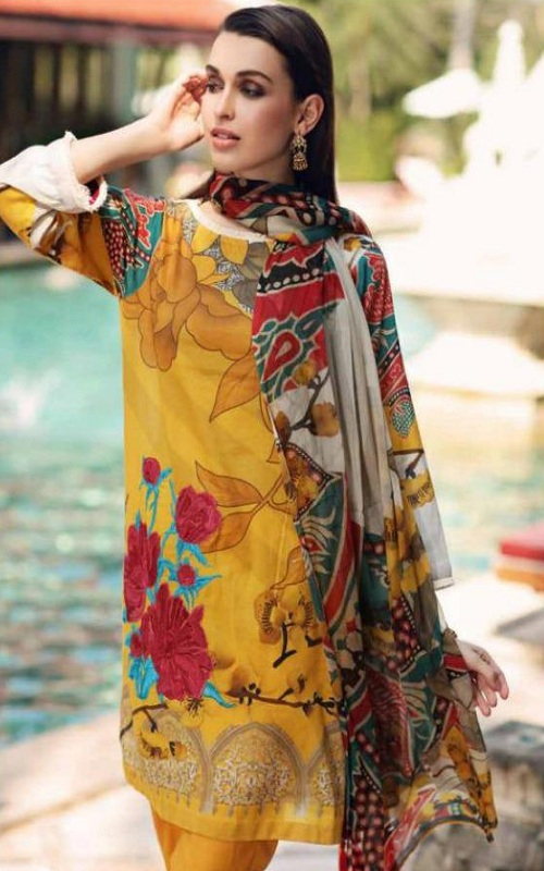 Deepsy Suits Presents Charizma 2 Cotton With Embroidery Pakistani Replica Suit 661