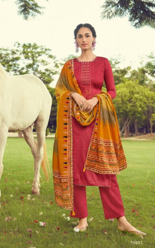 Deepsy Suits Presents Panghat 10 Pure Jam Cotton Print With Heavy Self Embroidered Salwar Suit 70001