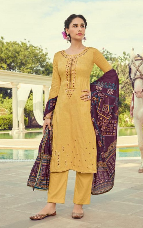Deepsy Suits Presents Panghat 10 Pure Jam Cotton Print With Heavy Self Embroidered Salwar Suit 70006