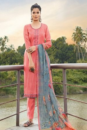 Ganga Fashions Presents Enigma 2 Tussar Silk Print With Embroidery Salwar Suit 531
