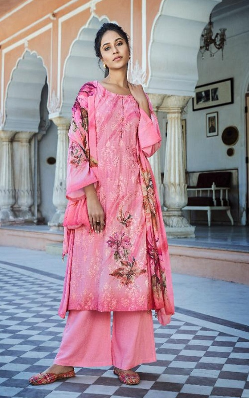 Jinaam Presents Rythm Digital Printed Modal Embroidered With Sequins Work Suit 8284