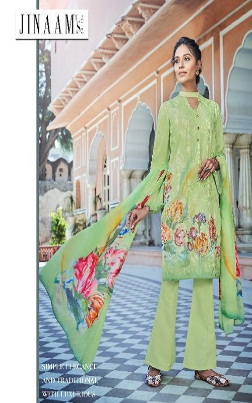 Jinaam Presents Rythm Digital Printed Modal Embroidered With Sequins Work Suits 8282